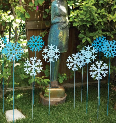 Ideas para decorar el jard n en estas fiestas for Decoracion navidena jardin