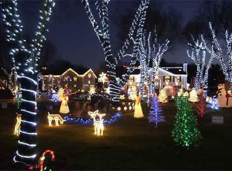 Ideas para decorar tu jard n en navidad - Luces navidenas solares ...