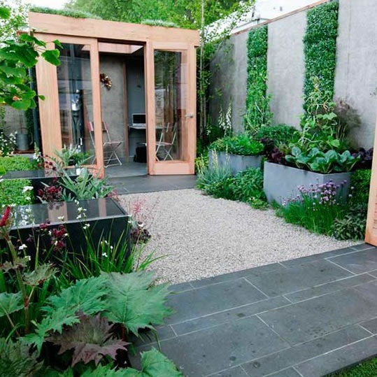 Ideas para jardines modernos for Garden office ideas uk