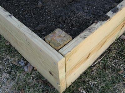 construye una cama para verduras 4