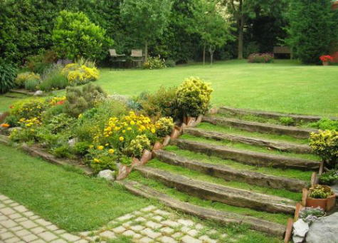 Piedras en el jard n - Rocas para jardin ...