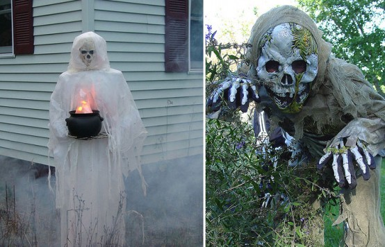 Decorar el jardín en Halloween 3