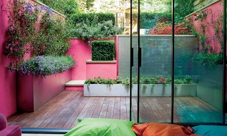 Jardín decorado en rosa 2