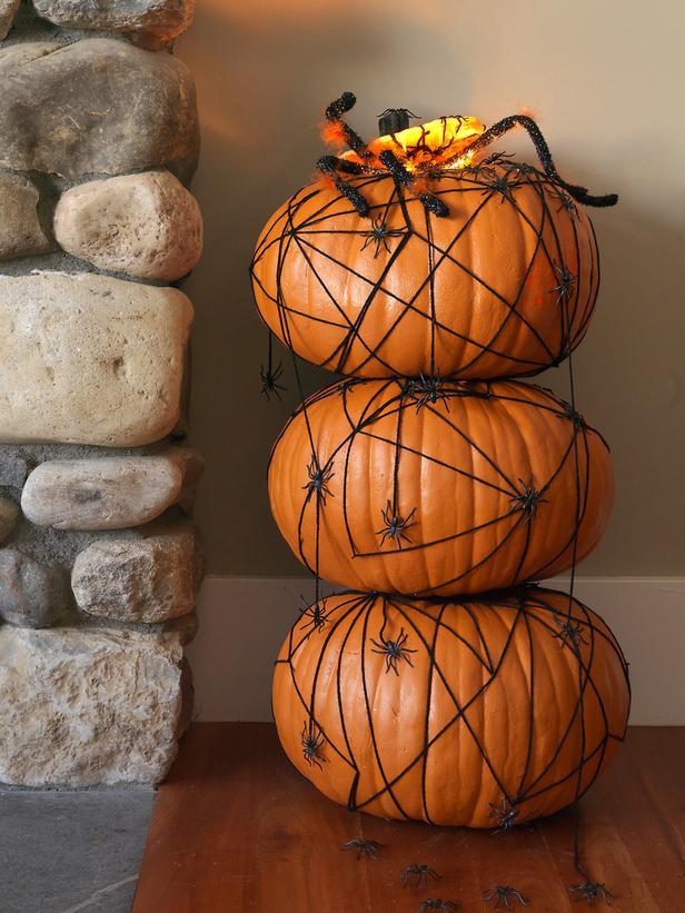 Componer un topiario de calabazas para halloween 2