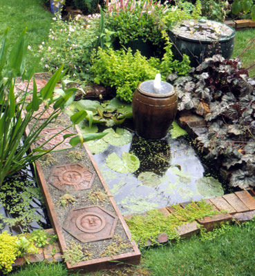 Fuentes para decorar el jardín 1