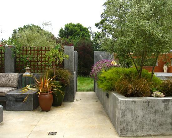 Un jard n mediterr neo en california for Jardineras para exterior
