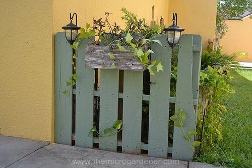 Utiliza palés en tu jardín 4