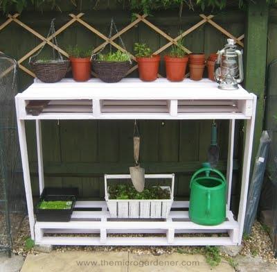 Utiliza palés en tu jardín 8