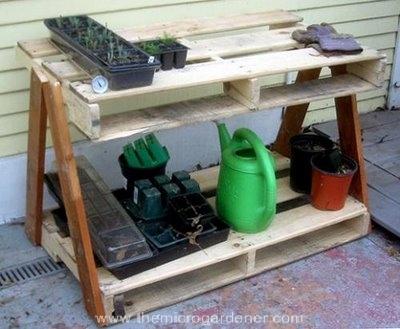 Utiliza palés en tu jardín 9