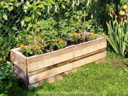 Utiliza palés en tu jardín 7
