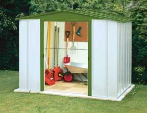 Instala una caseta en el jard n - Casetas de metal para jardin ...