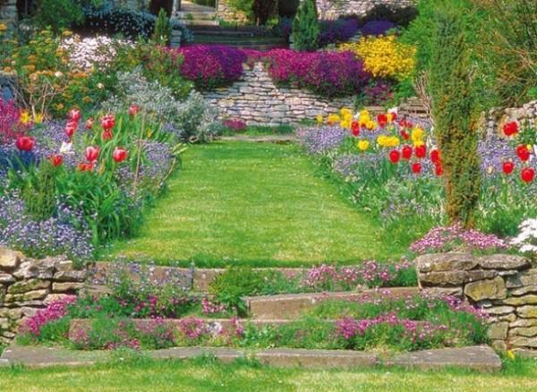 Un jard n con pendiente - Faire un petit potager dans son jardin ...