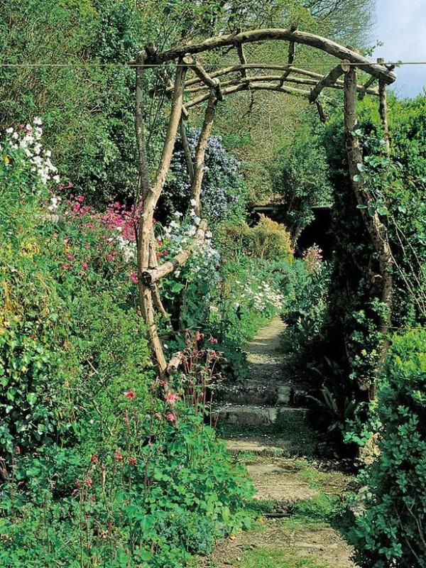Arcos y p rgolas para el jard n - Pergolas para jardines ...