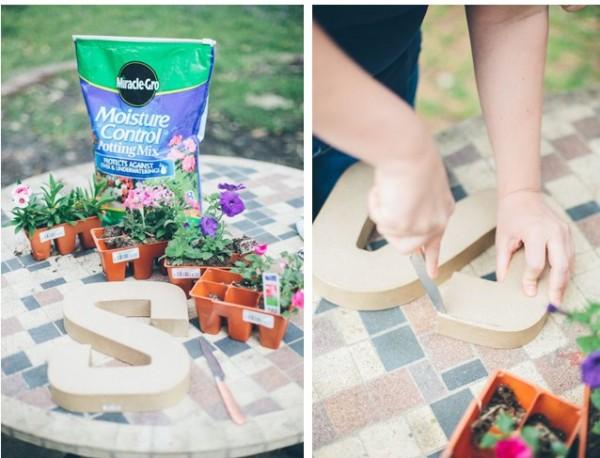 Escribe con flores y plantas 2