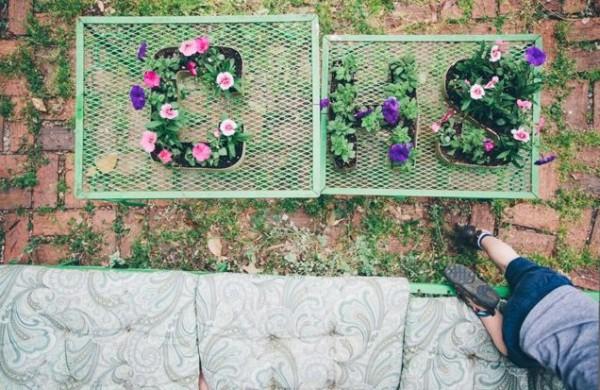 Escribe con flores y plantas 4