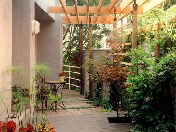 Espacios privados en el jardín 3