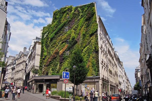 Jardín vertical en París 1