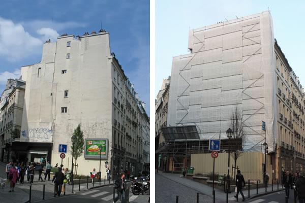Jardín vertical en París 2