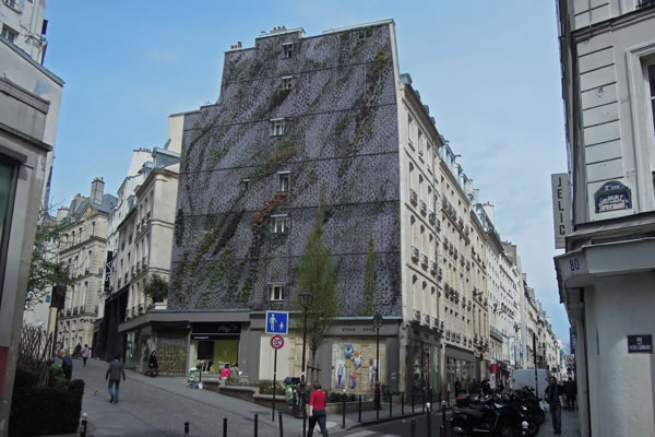 Jardín vertical en París 3