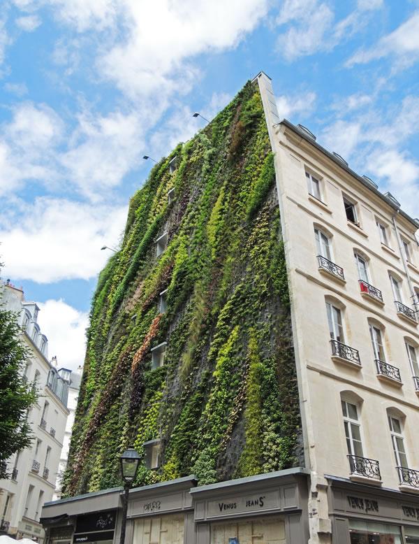 Jardín vertical en París 4