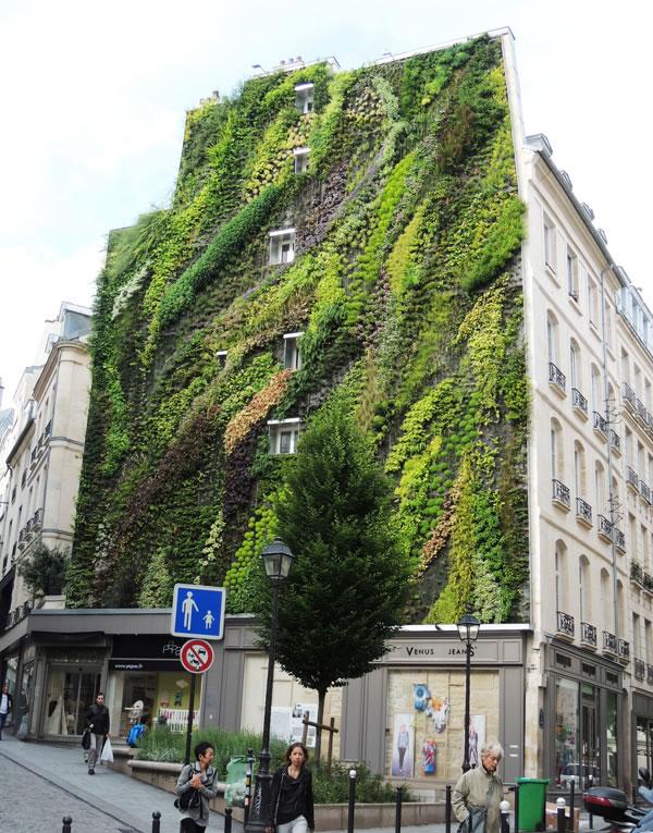 Jardín vertical en París 6