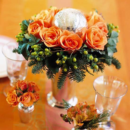 9 ideas de centros navide os con flores naturales for Centros navidenos