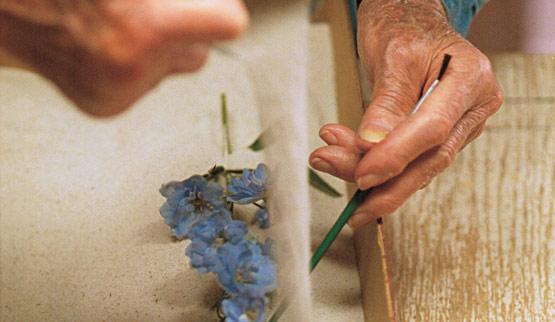 Secar flores con arena 3