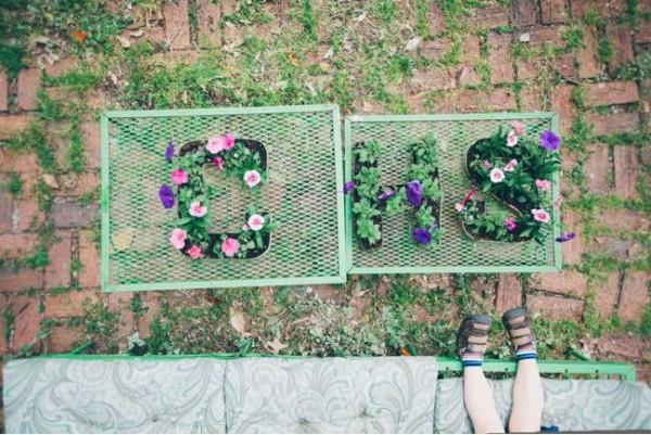 Escribir con plantas y flores