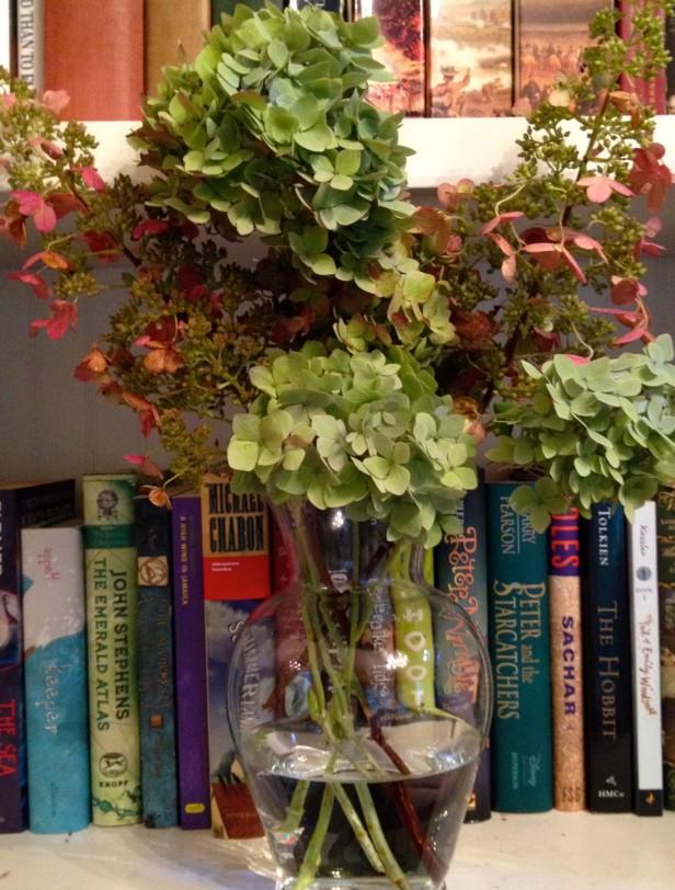 Secar flores de hostensia
