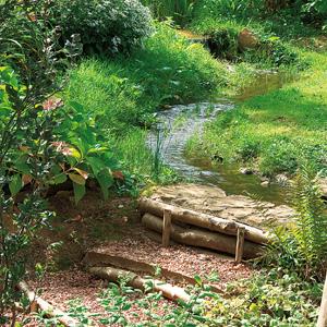 Escaleras en el jardín 3