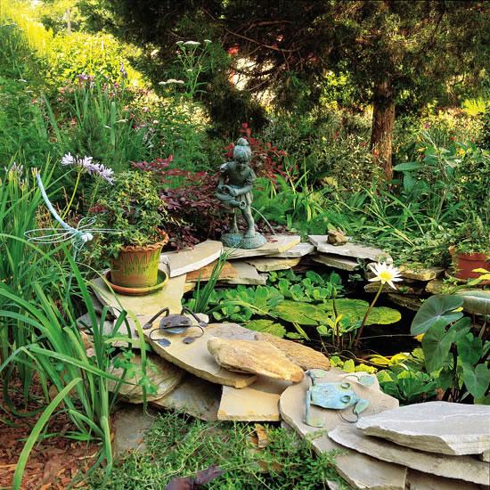 Paredes de piedra seca en el jard n for Como hacer un jardin rustico