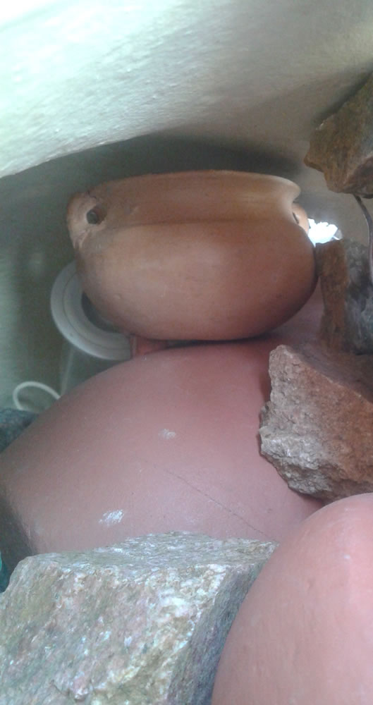 Fuente con cascada DIY 4