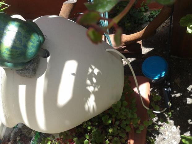 Fuente con cascada DIY 7