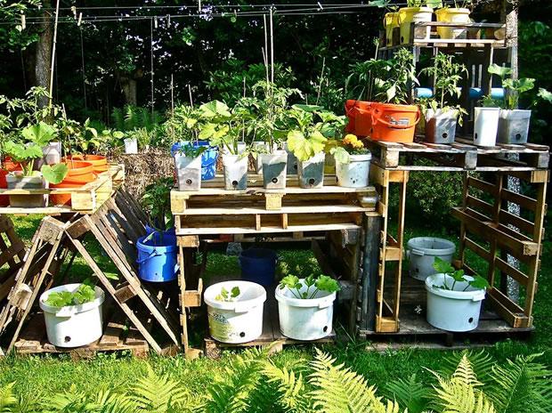 Ideas con palets para tu jard n gu a de jardiner a for Ideas con palets para jardin