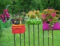 imagen Jardineras de bajo costo reciclando objetos