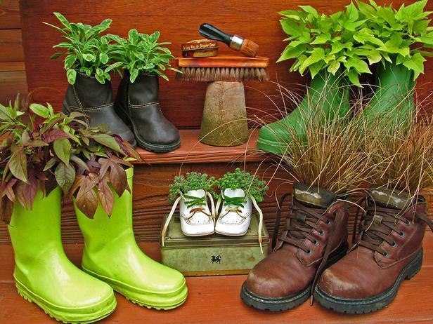 Jardineras de bajo costo reciclando objetos - Decorar reciclando objetos ...
