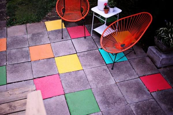 Piso a colores para tu patio o jardín 1