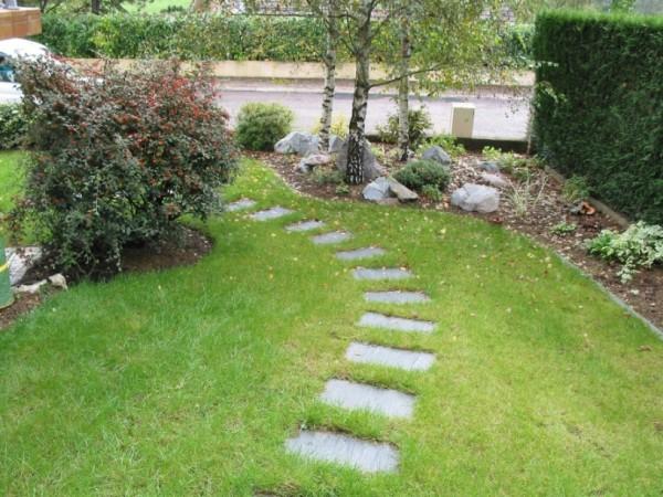 Paso japonés en el jardín DIY 1