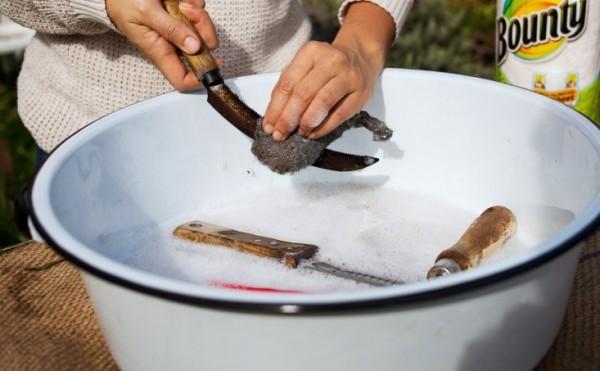 Limpieza herramientas de jardín 2