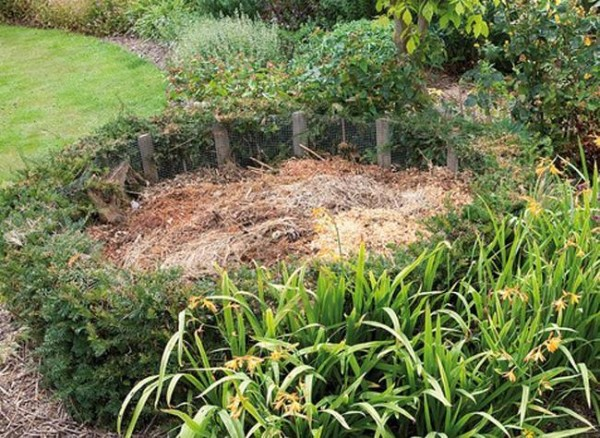 Cómo camuflar la pila de compost 1