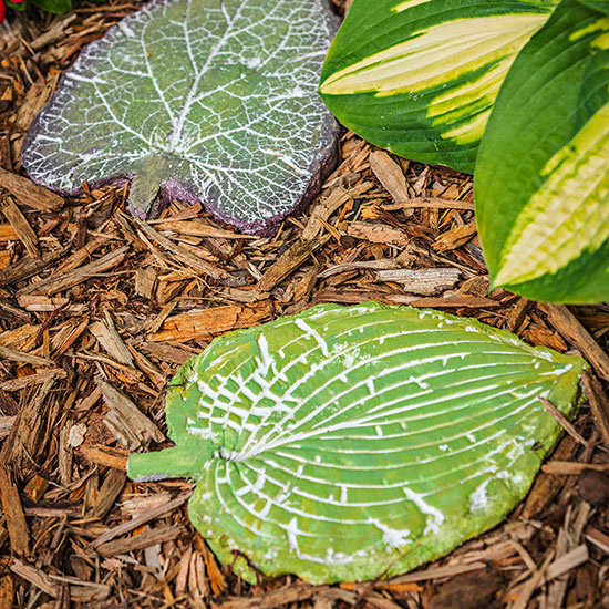Paso o camino de hojas DIY 1