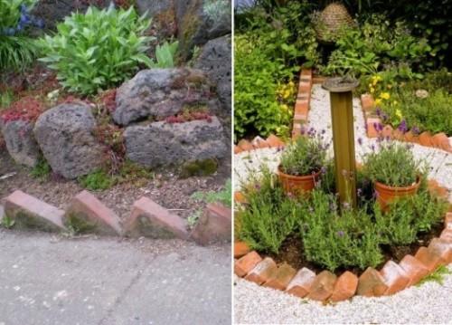 Ideas con ladrillos para el jardín 2