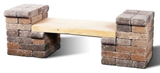 13 ideas con ladrillos para el jard n - Muebles con ladrillos ...