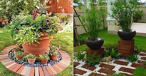 13 ideas con ladrillos para el jard n for Bordillos de plastico para jardin