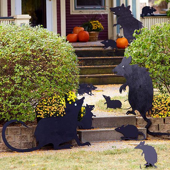 Decoracion Jardin Halloween ~ Preparar unas cuantas calabazas peque?as como linternas y colgarlas