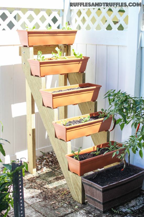 Jardin vertical escalonado
