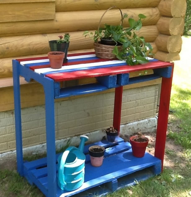Ideas para reutilizar palets en el jard n - Muebles de palets para jardin ...