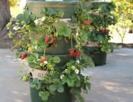 imagen Torre de macetas para cultivar fresas