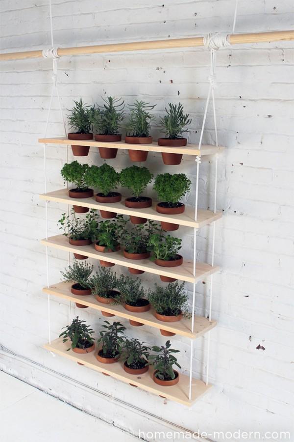 Jardin vertical plantas aromaticas
