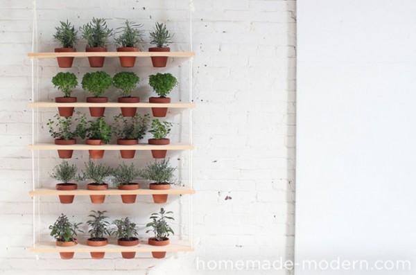 Un jard n vertical de hierbas arom ticas - Macetas para jardin vertical ...